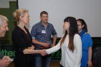 Bettine Vriesekoop enthousiast over tafeltennistalent 6